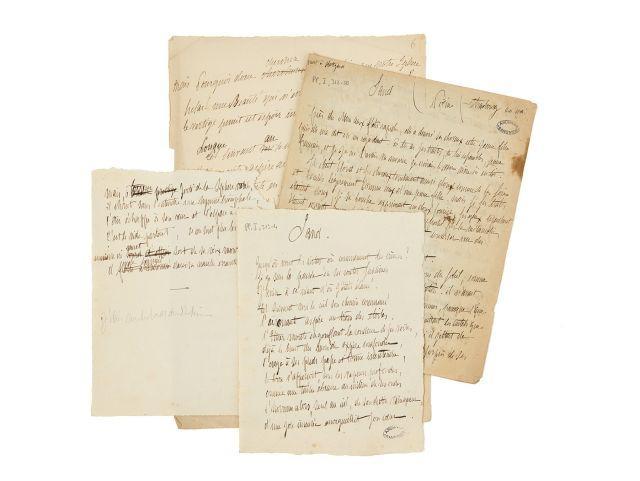 Alfred de VIGNY 1797-1863 Poèmes et esquisses poétiques autographes