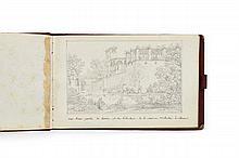 Marie-Jeanne-Amélie de VIGNY 1757 - 1837 Carnet de croquis illustrant des vues de Clisson