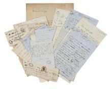 Alfred de VIGNY 1797-1863 Correspondance reçue, brouillons et minutes autographes de lettres