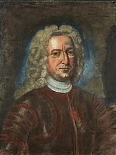 École française du XVIIIe siècle  Portrait de Louis de Baraudin Pastel sur papier marouflé sur toile