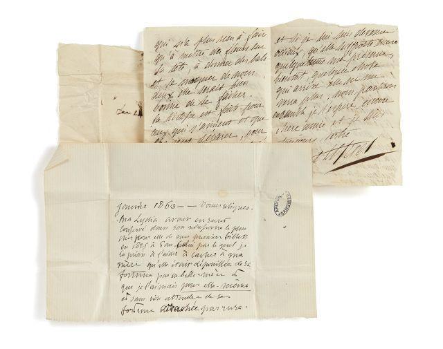 Alfred de VIGNY 1797-1863 Lettre autographe signée à Lydia de Vigny
