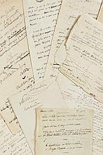 Alfred de VIGNY 1797-1863 Fragment autographe de la traduction de