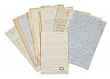 Alfred de VIGNY 1797-1863 Réunion de vingt lettres autographes signées à Virginie Ancelot