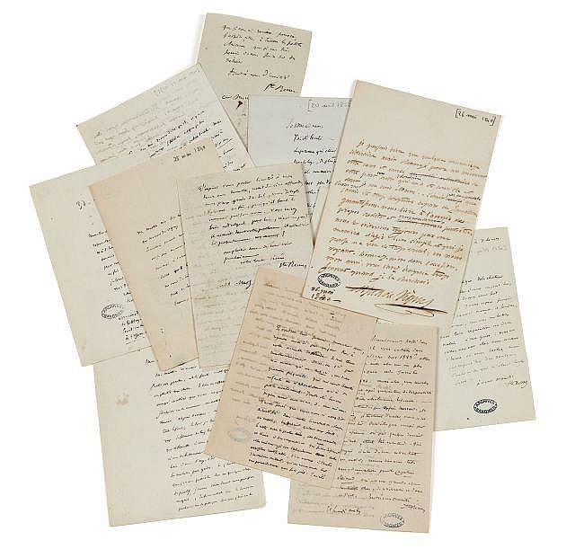 Charles-Augustin SAINTE-BEUVE 1804-1869 Réunion de dix-neuf lettres autographes signées à Alfred de Vigny