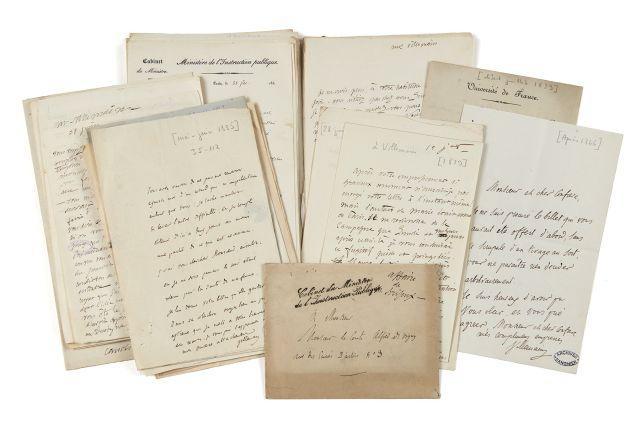 Abel-François VILLEMAIN 1791-1870 Réunion de vingt-quatre lettres autographes signées et deux lettres signées à Alfred de Vigny
