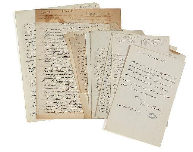Gustave PLANCHE 1808-1857 Réunion de dix lettres autographes signées à Alfred de Vigny