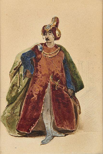 Antoine, dit Tony JOHANNOT 1803 - 1852 Projet de costume pour Othello dans