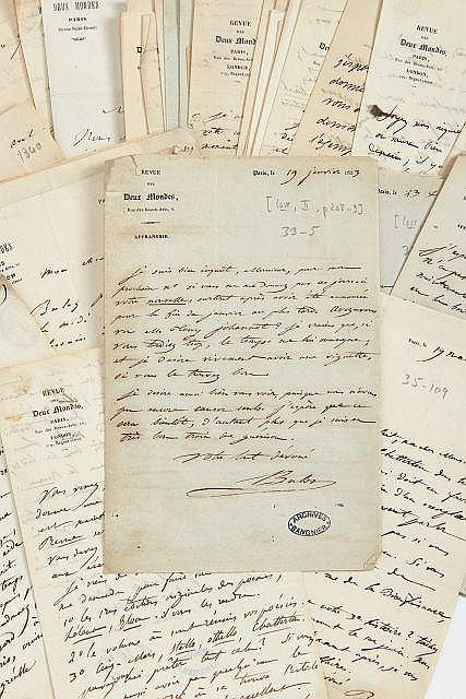 François BULOZ 1804-1877 Réunion de cinquante-et-une lettres autographes signées à Alfred de Vigny