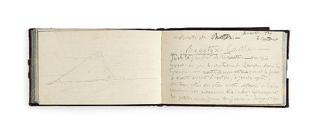Alfred de VIGNY 1797-1863 Carnet de notes tenu lors d'un voyage en Angleterre en 1838-1839. Manuscrit autographe
