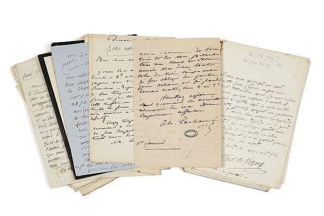 Alfred de VIGNY 1797-1863 Correspondance autographe avec Louise, Charles et Georges Lachaud
