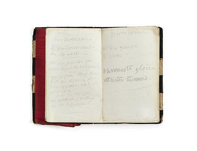 Alfred de VIGNY 1797-1863 Carnet de 1845. Manuscrit autographe