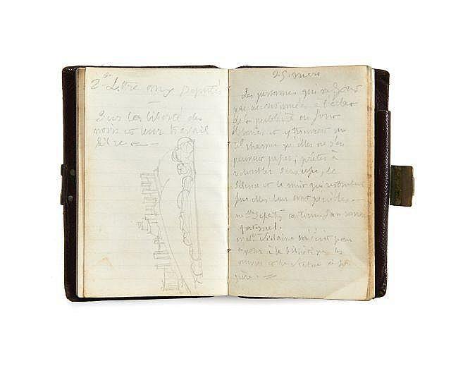 Alfred de VIGNY 1797-1863 Carnet de 1841. Manuscrit autographe
