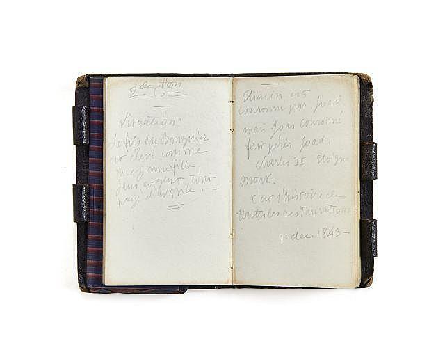 Alfred de VIGNY 1797-1863 Carnet de 1844. Manuscrit autographe