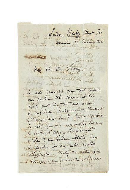 Hector BERLIOZ 1803-1869 Lettre autographe signée à Alfred de Vigny