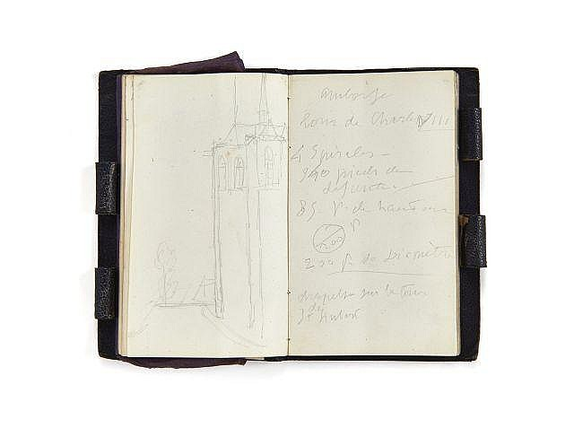 Alfred de VIGNY 1797-1863 Carnet de 1846. Manuscrit autographe
