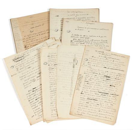 Alfred de VIGNY 1797-1863 Mémoires politiques : manuscrits autographes