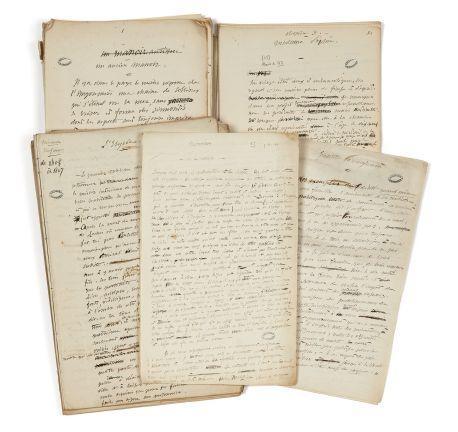 Alfred de VIGNY 1797-1863 Mémoires de famille : manuscrits autographes