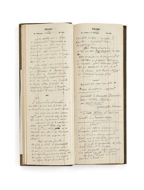 Alfred de VIGNY 1797-1863 Agenda de 1863. Manuscrit autographe