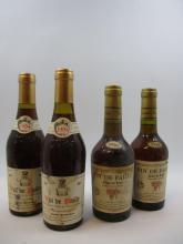 4 demi bouteilles 2 demi bts : VIN DE PAILLE 1994 Côtes du Jura. X. Reverchon2 demi bts : VIN DE PAILLE 1988 Côtes du Jura. Gaec Gra...