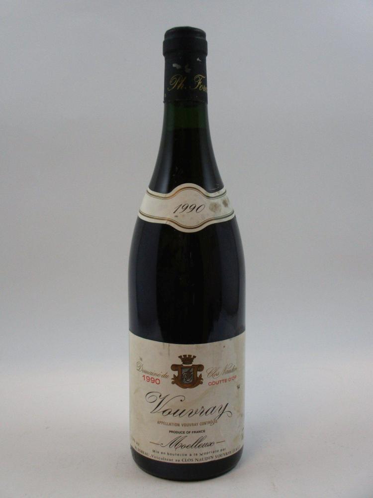 1 bouteille vouvray 1990 goutte d 39 or domaine du clos naudin - Goutte a goutte bouteille ...
