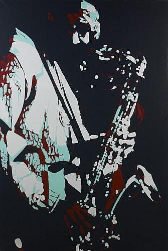 Bernard RANCILLAC (Né en 1931) ARCHIE SHEPP ET ROSWELL RUDD, 1976 Acrylique sur toile