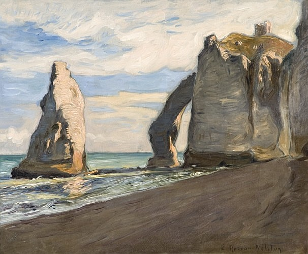 Etienne MOREAU-NELATON (1859 - 1927) ETRETAT, circa 1898 Huile sur toile