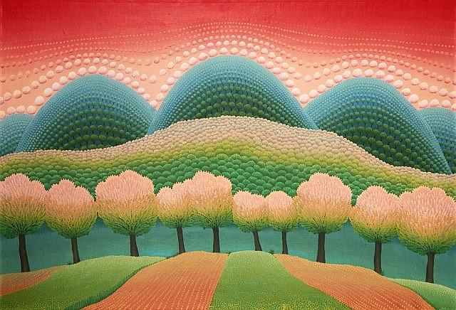 Ivan RABUZIN (1921 - 2008) PAYSAGE ONIRIQUE, 1968/69 Huile sur toile