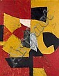 Serge POLIAKOFF (1900-1969) COMPOSITION (JAUNE, ROUGE, NOIR, BLANC), 1954 Huile sur toile, Serge Poliakoff, Click for value