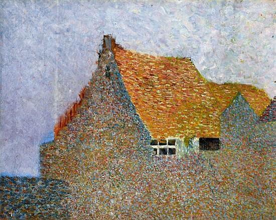 ¤Léo GAUSSON (1860-1944) LA MAISON, circa 1888 Huile sur toile