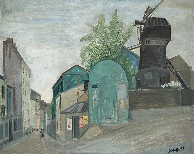 Joseph HECHT (Lodz, Varsovie 1891- Paris, 1951) MOULIN DE LA GALETTE, CIRCA 1930 Huile sur toile