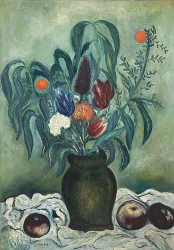 Isaac ANTCHER (Kichinev, Ukraine 1899- Paris, 1992) BOUQUET DE FLEURS, circa 1930 Huile sur toile