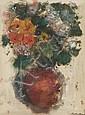 Joachim WEINGART (Drohobych, Galicie 1895 -Auschwitz, 1942) BOUQUET DE FLEURS Huile sur papier, Joachim Weingart, Click for value