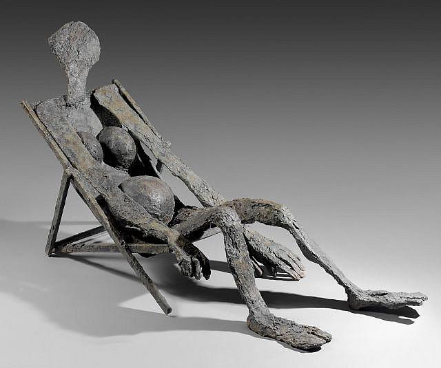Robert COUTURIER (né en 1905) L'ETE Bronze à patine vert foncé