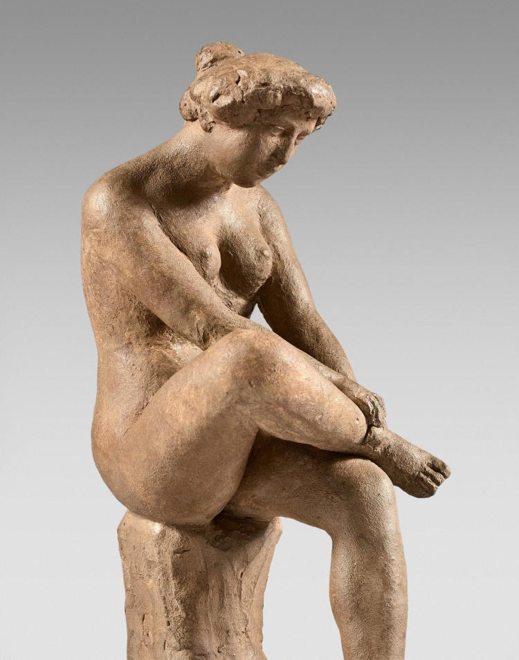 Aristide maillol 1861 1944 femme assise jambe repli e 1 - Photo jambe femme ...