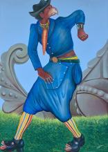 Pierre Bodo 1953 - 2015 Mudinda de base - 2010 Acrylique et paillettes sur toile