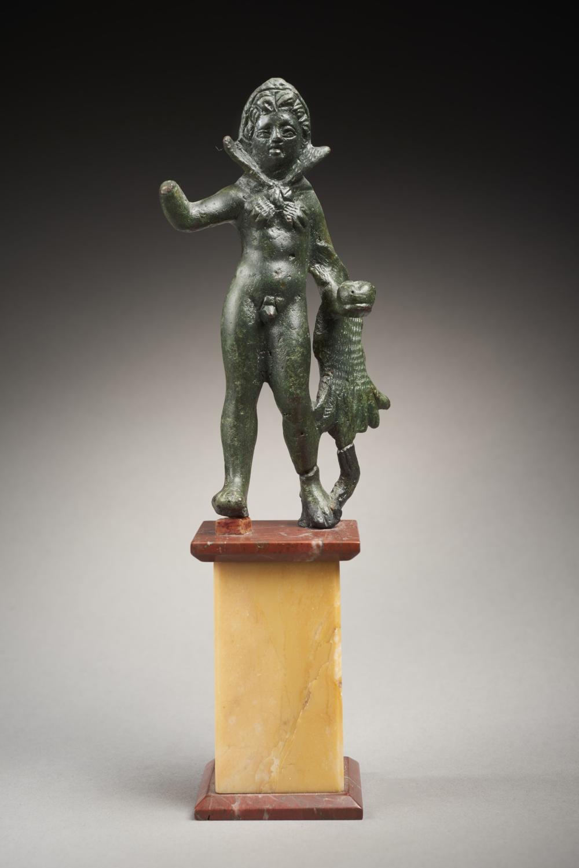 HERCULE EN BRONZE Art romain, vers le 3e siècle