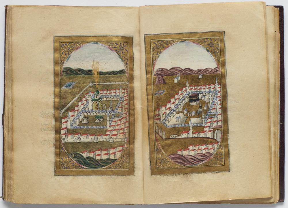 Muhammad bin Sulayman Al-Jazuli (mort en 1465): DALA'IL AL-KHAYRAT Signé Ahmad Al-Shawqi, élève de Al Hajj Mohammad Al Rushdi Khwaja..