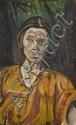 ¤ Pinchus KREMEGNE (Zaloudock, 1890 - Céret, 1981) PORTRAIT DE MADAME KOTZIEBRODSKY, 1918 Huile sur toile
