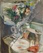 Lazare VOLOVICK (Kremenchug, 1902 - Paris, 1977) NATURE MORTE AU POISSON ROUGE Huile sur toile