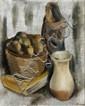 Joachim WEINGART (Drohobych, 1895 - Auschwitz, 1942) LA MARCHANDE DE POMME Huile sur toile
