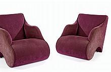 Martin SZEKELY (Né en 1956) Paire de fauteuils