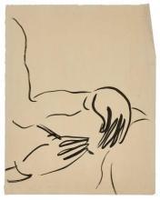 SANYU 1901 - 1966 Mains dessinant Encre sur papier