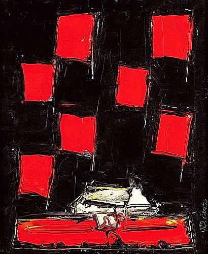 LIU FENGZHI (né en 1964) TIANANMEN Acrylique sur toile