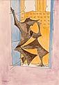 MAN RAY (Philadelphie, 1890- Paris, 1976) MAN IN THE WINDOW, 1940 Aquarelle et encre sur papier