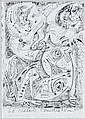 André MASSON (Balagny-sur-Thérain,1896 - Paris, 1987) LE CRAPAUD TELLURIQUE, 1966 Encre de Chine et crayon sur papier