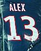 Maillot de football customisé de Alex Mise à prix: 200 €