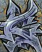 DARCO (né en 1968) AUTROGRAFF-FROM THE STREETS, 2013 Peinture aérosol et marqueurs sur toile