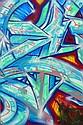 DARCO (né en 1968) AUTOGRAFF-CALIGRAFIA, 2013 Peinture aérosol et marqueurs sur toile