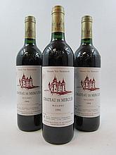 6 bouteilles CAHORS 1994 Château Mercues