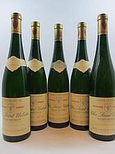 5 bouteilles ALSACE TOKAY PINOT GRIS 1988 VT Clos Saint Urbain